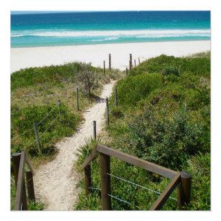 Paseo al poster de la playa