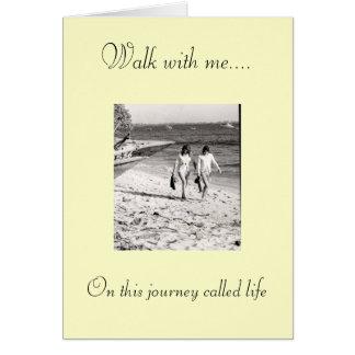 Paseo conmigo…. En este journ… Tarjeta De Felicitación