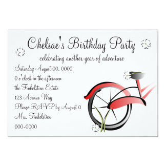 Paseo de la bici de la margarita invitación 12,7 x 17,8 cm