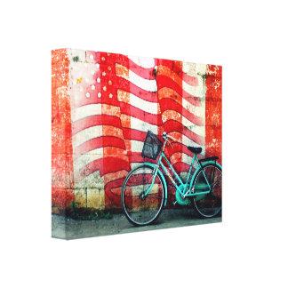 Paseo de la bici en los E.E.U.U. Impresión En Lona
