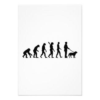 Paseo de la evolución el perro anuncio