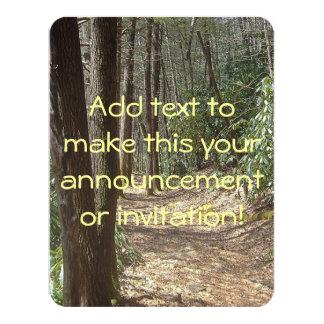 Paseo de la naturaleza invitación 10,8 x 13,9 cm