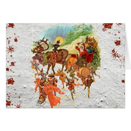 Paseo de la Nochebuena con la tarjeta de