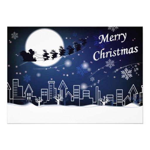 Paseo de la Nochebuena con la tarjeta de la cigüeñ Invitaciones Personales