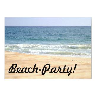 Paseo de la playa invitación 12,7 x 17,8 cm