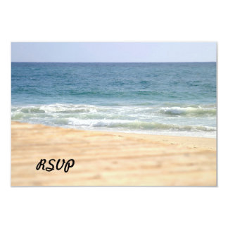 Paseo de la playa invitación 8,9 x 12,7 cm