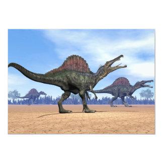 Paseo de los dinosaurios de Spinosaurus - 3D Invitación 12,7 X 17,8 Cm