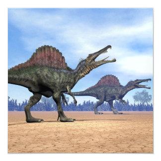 Paseo de los dinosaurios de Spinosaurus - 3D Invitación 13,3 Cm X 13,3cm