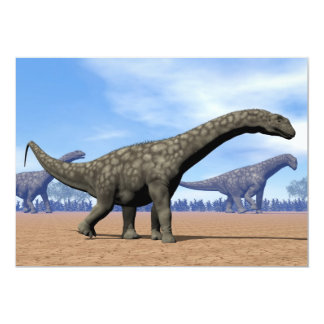 Paseo de los dinosaurios del Argentinosaurus - 3D Invitación 12,7 X 17,8 Cm
