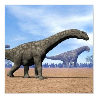 Paseo de los dinosaurios del Argentinosaurus - 3D Invitación 13,3 Cm X 13,3cm