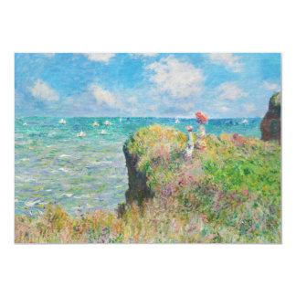 Paseo del acantilado de Monet en las invitaciones Invitación 12,7 X 17,8 Cm