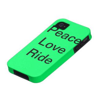 Paseo del amor de la paz iPhone 4 fundas