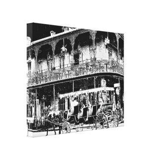 Paseo del carro de New Orleans - arte de la lona
