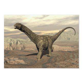 Paseo del dinosaurio del Argentinosaurus - 3D Invitación 12,7 X 17,8 Cm