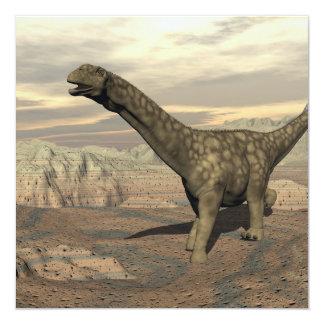 Paseo del dinosaurio del Argentinosaurus - 3D Invitación 13,3 Cm X 13,3cm