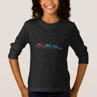 Paseo del elefante africano camiseta