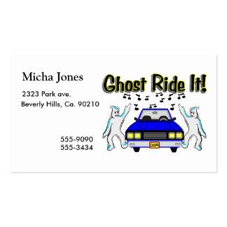 Paseo del fantasma él coche del fantasma tarjetas de visita