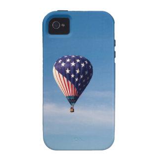 Paseo del globo del aire caliente de las barras y vibe iPhone 4 funda