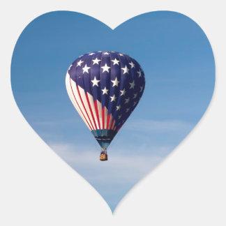 Paseo del globo del aire caliente de las barras y  pegatina de corazon personalizadas