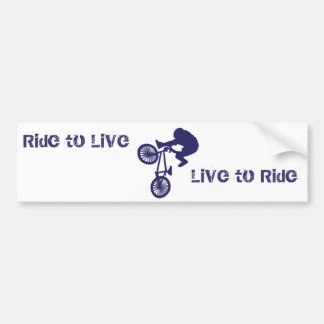 Paseo del motorista de BMX a vivir vivo para monta Pegatina Para Coche