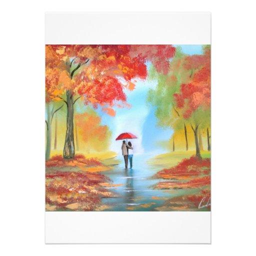 Paseo del otoño anuncio