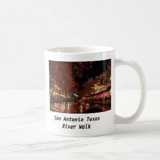 Paseo del río de San Antonio Tejas Taza De Café