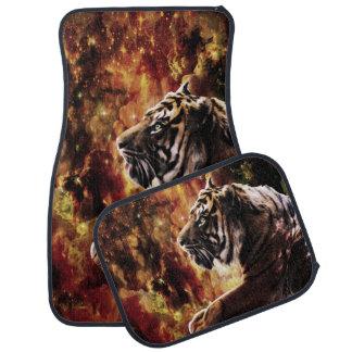 Paseo del tigre a través del barranco reluciente alfombrilla de coche
