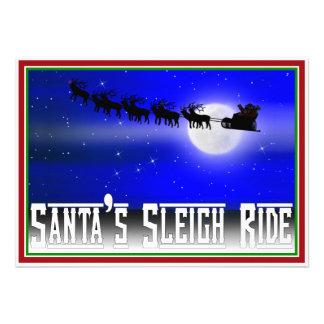 Paseo del trineo de Santa Invitacion Personalizada