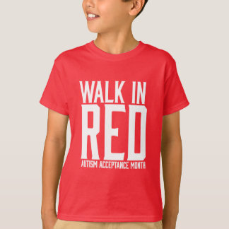Paseo en camiseta roja