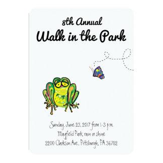 Paseo en la invitación del parque
