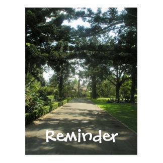 Paseo en la tarjeta del recordatorio del parque