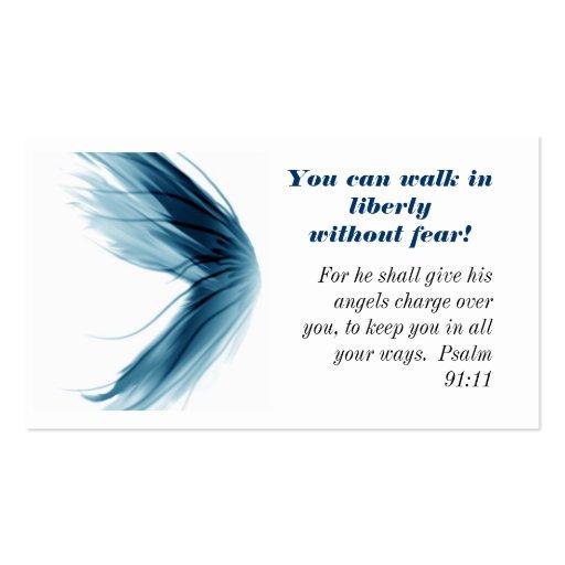 Paseo en tarjeta cristiana del mensaje de la liber tarjetas de visita
