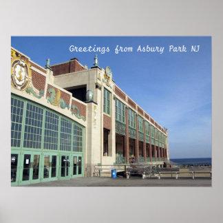 Paseo marítimo del parque NJ de Asbury - convenio  Póster