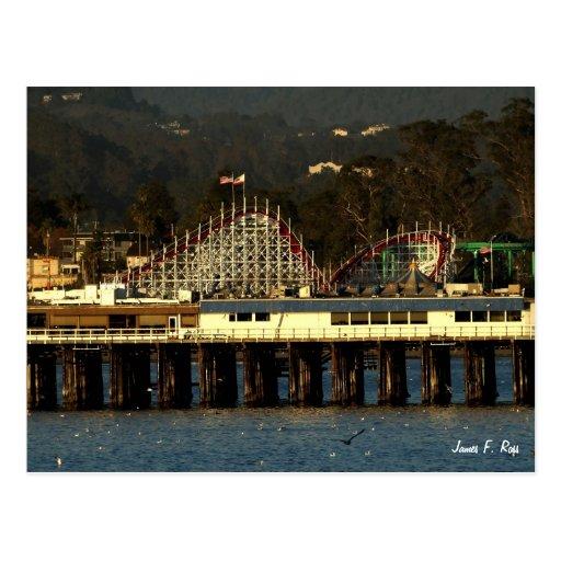 Paseo marítimo y muelle de Santa Cruz Tarjetas Postales