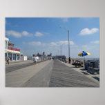 Paseo marítimo y tiendas del parque NJ de Asbury Poster