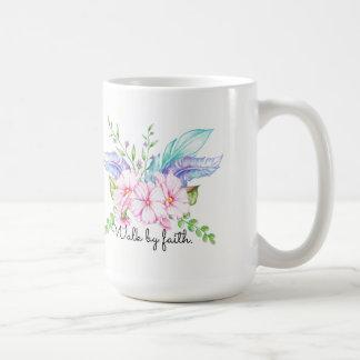 Paseo por la taza de la flor de Boho de la fe