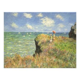 Paseo Pourville, Monet, impresionismo del acantila Invitacion Personal