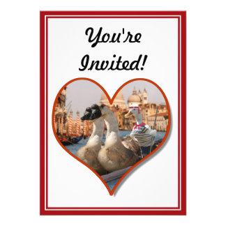 Paseo romántico de la góndola para dos gansos