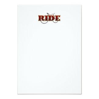 Paseo SUPERIOR de la bici Invitación 12,7 X 17,8 Cm