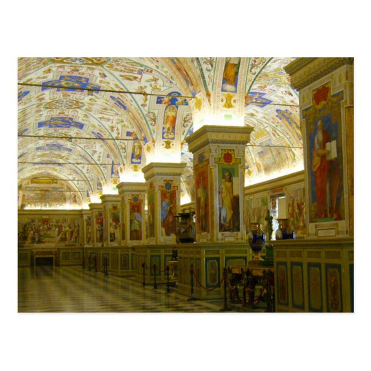 pasillo del museo de vatican postal