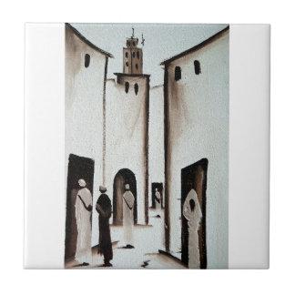 Pasillo marroquí azulejo cuadrado pequeño