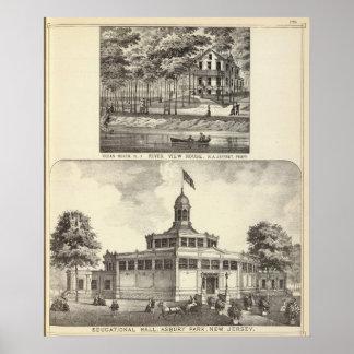 Pasillo, parque de Asbury y casa educativos de la  Póster