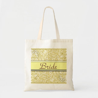 Pasión de Paisley - amarillo (alheña) (boda) Bolsa Tela Barata