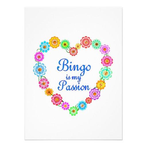 Pasión del bingo invitación