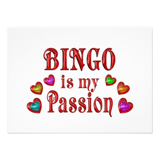 Pasión del bingo anuncio personalizado