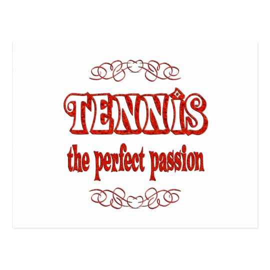 Pasión del tenis postal