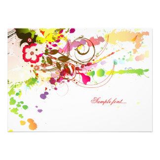 Pasión tropical de PixDezines/color de fondo diy Invitacion Personal