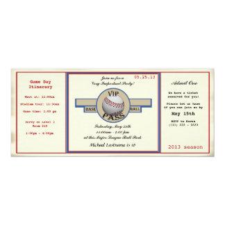 Paso de la fiesta de cumpleaños del béisbol invitación 10,1 x 23,5 cm