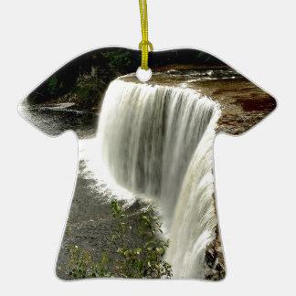 Paso del agua de la naturaleza ornamentos de navidad