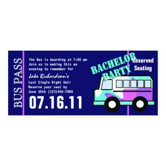 Paso del autobús de la despedida de soltero invitación 10,1 x 23,5 cm